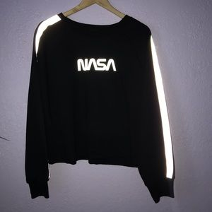 Reflective Cropped Sweater